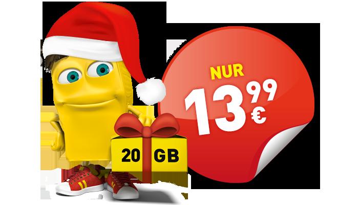 Aktion: Zu Weihnachten doppeltes Datenvolumen geschenkt!