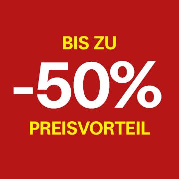 Bis zu -50% Preisvorteil