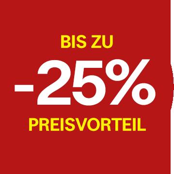 Bis zu -25% Preisvorteil