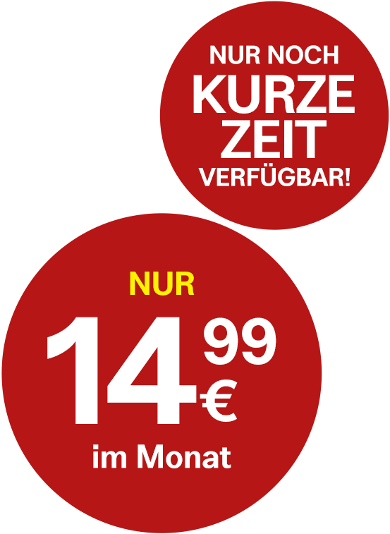Nur 14,99 Euro pro Monat
