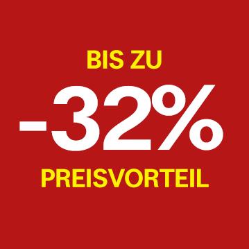 Bis zu -32% Preisvorteil