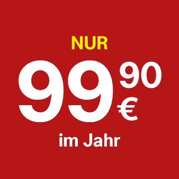Nur €99,90 für 12 Monate.