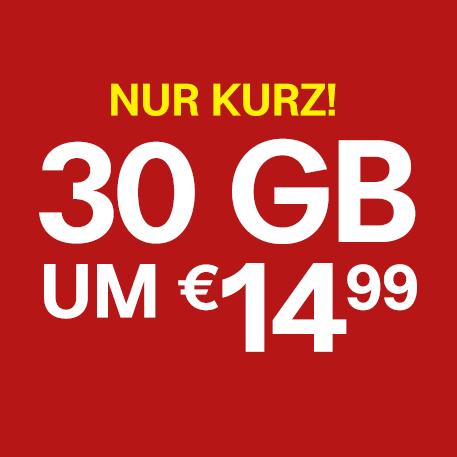 30 GB um nur 14,99 Euro