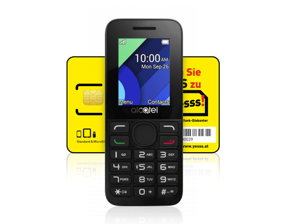 Alcatel 1054 + yesss! SIM-Karte