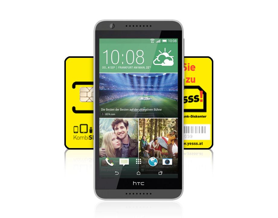 HTC Desire 820 4G/LTE + yesss! SIM-Karte