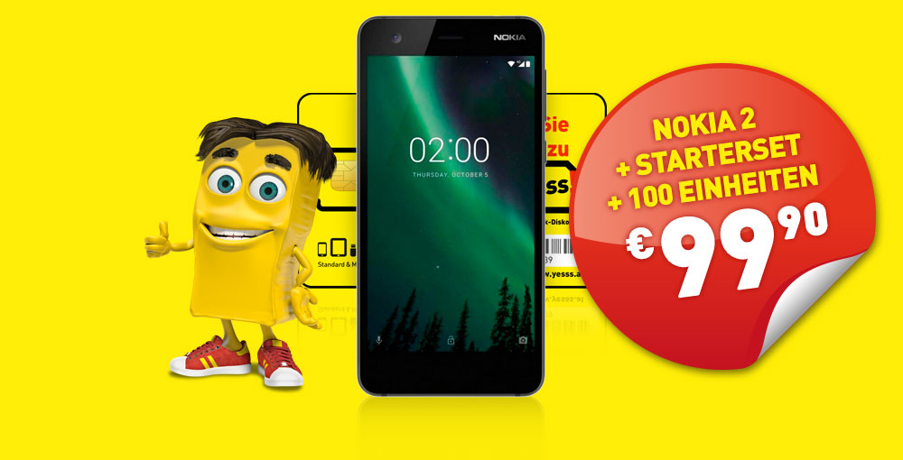 Nokia 2 um nur €99,90