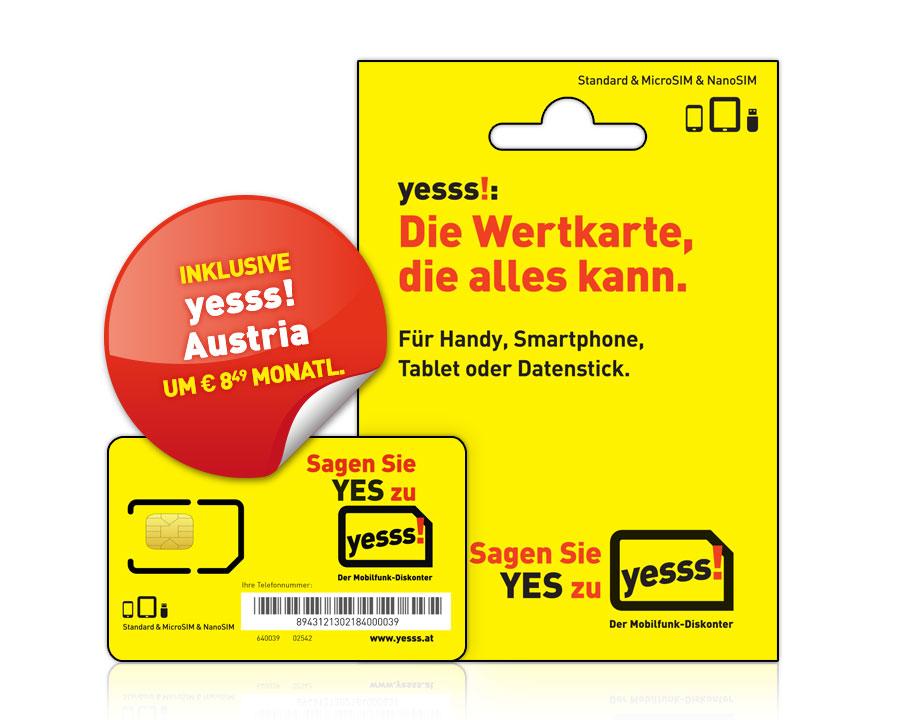 yesss! Starterset mit yesss! Austria