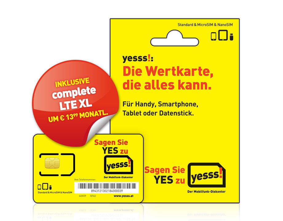 yesss! Starterset mit complete LTE XL