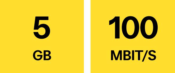 5 GB, 100 Mbit/s