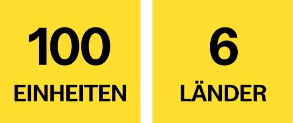 100 Einheiten, 6 Länder
