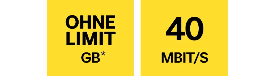 Unlimitiertes Datenvolumen in Österreich und LTE bis 40 Mbit/s