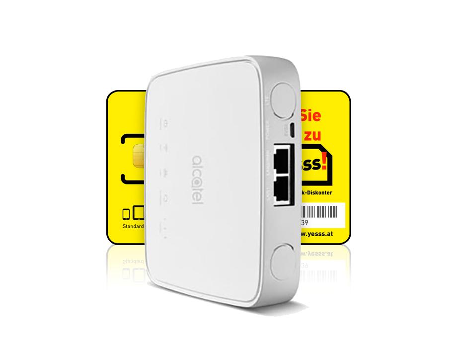 Alcatel LINKHUB HH40V  LTE-Cube + yesss! classic + Unlimited LTE Datenpaket