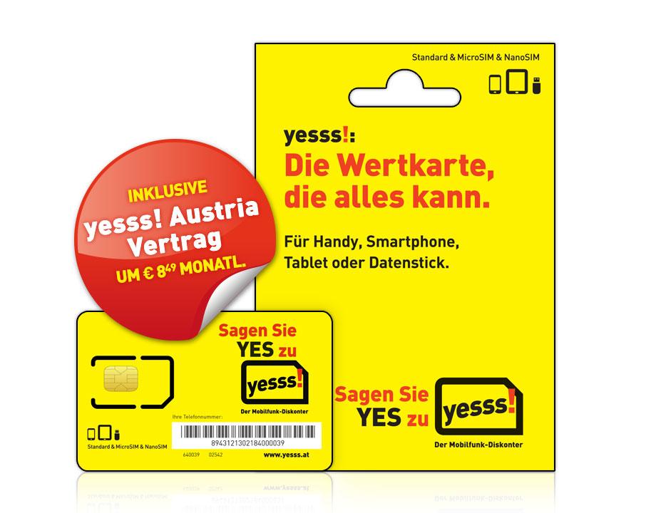 yesss! Starterset mit yesss! Austria Vertragstarif