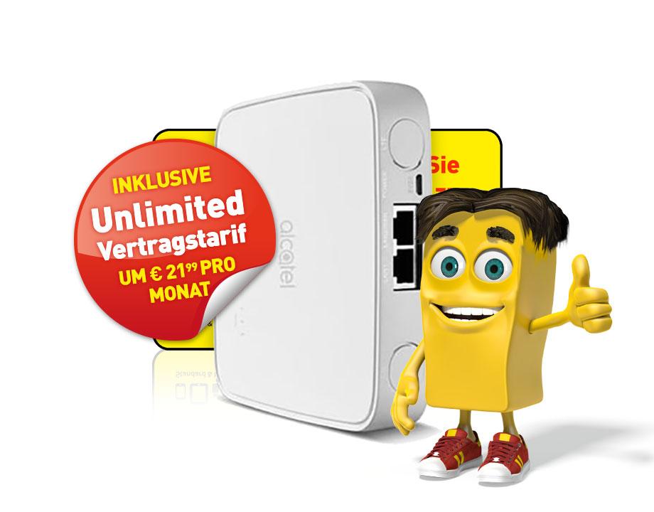 Alcatel LTE-Cube inkl. Unlimited Vertragstarif